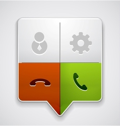 Phone buttons in one pointer vector image