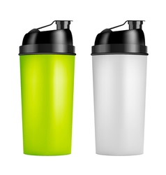 Protein shaker design template two colors sport vector