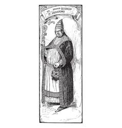Proud bishop of hereford vintage vector