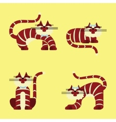 Set of isolated character cats vector image