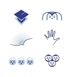 set of symbols Education vector image