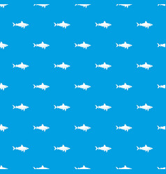 shark fish pattern seamless blue vector image vector image