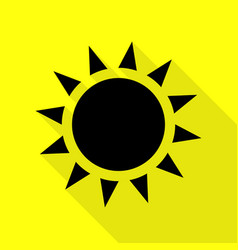 Sun sign black icon with flat style vector