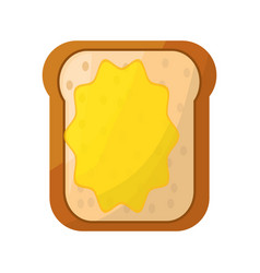 toasted bread butter vector image