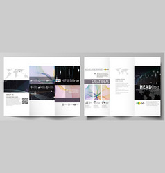 tri-fold brochure business templates easy vector image