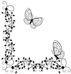 vintage butterflies 4 vector image vector image