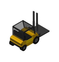 warehouse forklift truck isometric icon vector image