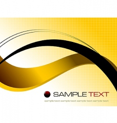 yellow abstract background composition vector image vector image