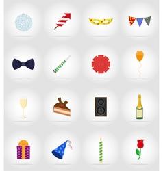 Celebration flat icons 17 vector