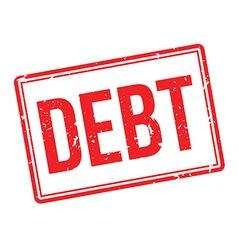 Debt rubber stamp vector image