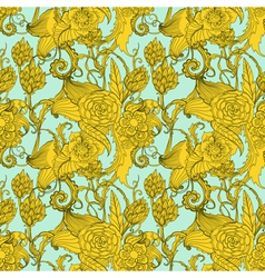 Seamless great floral pattern vector