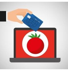 Shopping online concept order tomato vector