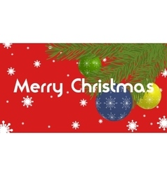 Christmas Banner with christmas balls and branches vector image
