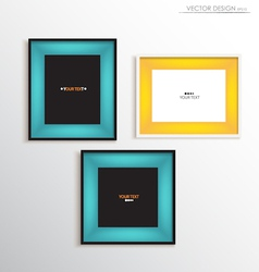 Modern frame on the wall vector