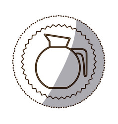 Coffee jug icon image vector