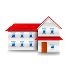 house with small windows isolated on white vector image