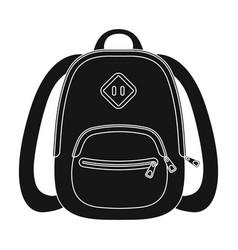 Blue school bag a school bag for a book and vector