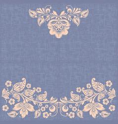 vintage background hohloma ornament vector image