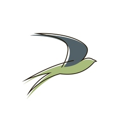 Flying swallow bird vector