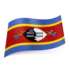 State flag of swaziland vector
