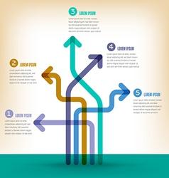 Arrow infographic vector image