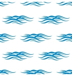 Sea blue waves with ripple pattern vector image