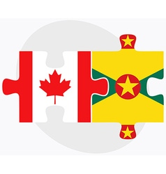 Canada and grenada flags vector