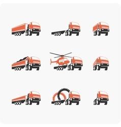 Set of truck vector image