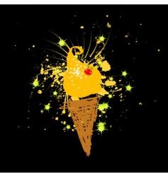 funny ice-cream vector image