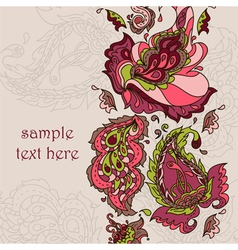 card with a paisley ornament vector image
