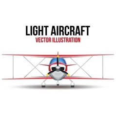 Vintage civil light airplane vector