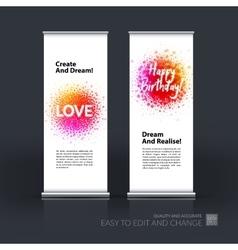 Set of modern roll up banner stand design vector