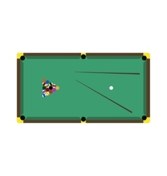 Billiards game table equipment vector