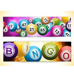 Bingo ball banners vector
