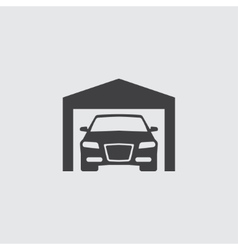 Car in garage icon vector