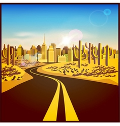 city in the desert vector image