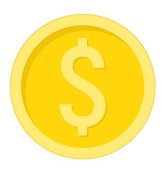 Coin dollar flat icon business and finance money vector