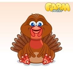 Cute Cartoon Turkey vector image vector image