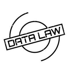 Data law rubber stamp vector