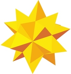 Decorative star icon isometric 3d style vector image vector image