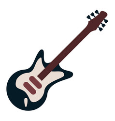 electric guitar musical instrument vector image vector image