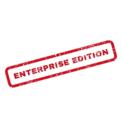 Enterprise edition text rubber stamp vector