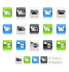 Folder Icons 1 Clean Series vector image vector image