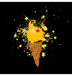 funny ice-cream vector image vector image