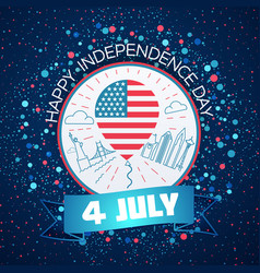 greeting card fourth of july vector image