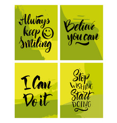 handwritten motivating quote vector image