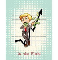 Idiom in the black vector image vector image
