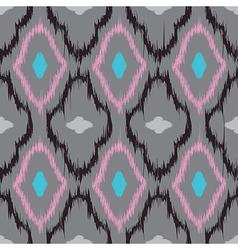 Ikat quatrefoil seamless pattern vector