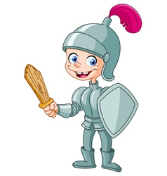 knight kid vector image vector image