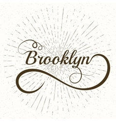 lettering Brooklyn Stock vector image vector image